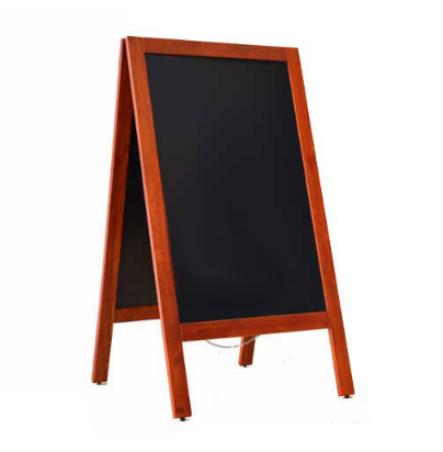 Krijtstoepbord Mahonie 75 x 135 cm