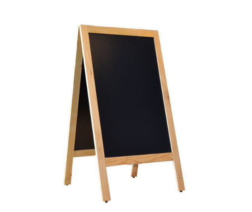 Krijtstoepbord blank 75 x 135 cm