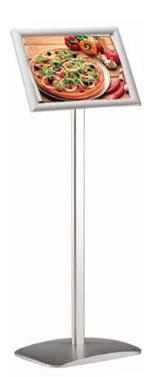 Menubord Décor A4 met voet 100 cm
